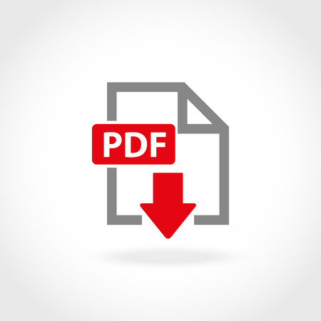 Vector PDF icon set. PDF Icon Object, PDF Icon Picture, PDF Icon Image - stock vector 向量圖像