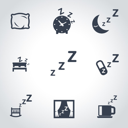 zzz: Vector black sleep icon set. Sleep Icon Object, Sleep Icon Picture, Sleep Icon Image - stock vector Illustration
