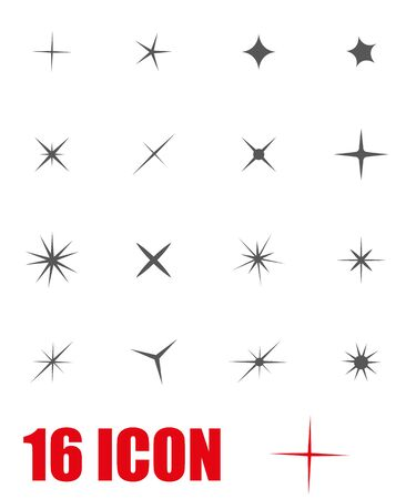 sparkle: Vector grey sparkles icon set. Sparkles Icon Object, Sparkles labels Icon Picture, Sparkles labels Icon Image - stock vector