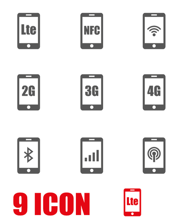 gsm phone: 3G, 4G and LTE technology. Wireless communication technology symbol Illustration