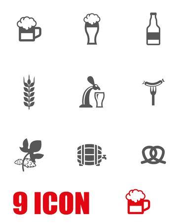 bratwurst: Vector white Oktoberfest icon set. Oktoberfest Icon Object, Oktoberfest Icon Picture, Oktoberfest Icon Image - stock vector