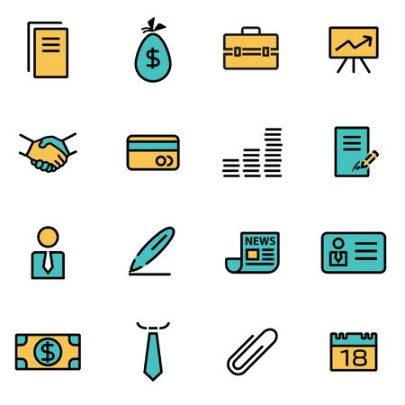 thin bulb: Trendy flat line icon pack for designers and developers. Vector line business icon set, business icon object, business icon picture, business icon image - stock vector Illustration