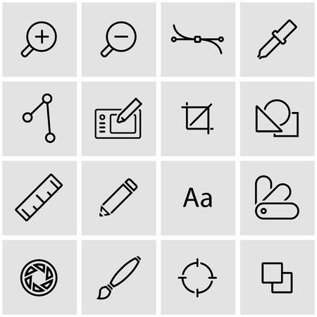 graphics: Vector line graphic design icon set.