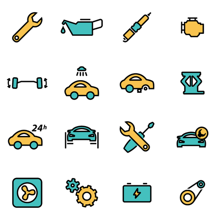 developers: Trendy flat line icon pack for designers and developers. Illustration