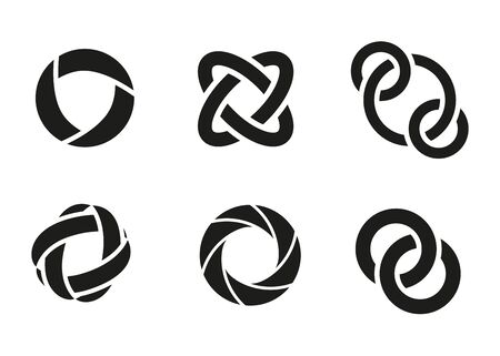 Technology orbit web rings. Vector circle ring design.