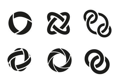 orbits: Technology orbit web rings. Vector circle ring design.