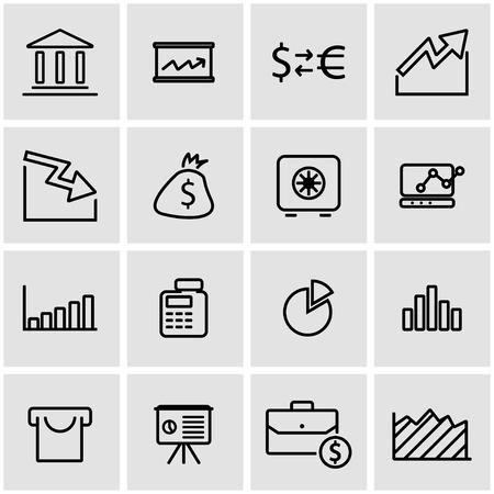 economic: Vector line economic icon set. Economic Icon Object, Economic Icon Picture, Economic Icon Image - stock vector Illustration