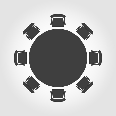 round chairs: Vector round table icon. Round Table Icon Object, Round Table Icon Picture, Round Table Icon Image - stock vector