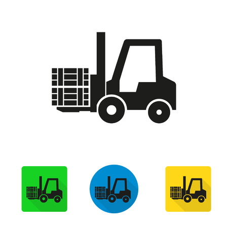 fork lifts trucks: Vector forklift icon. Forklift Icon Object, Forklift Icon Picture, Forklift Icon Image - stock vector
