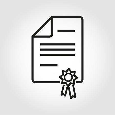 벡터 라인 특허 아이콘입니다. 특허 아이콘 개체, 특허 아이콘 그림, 특허 아이콘 이미지 - 재고 벡터