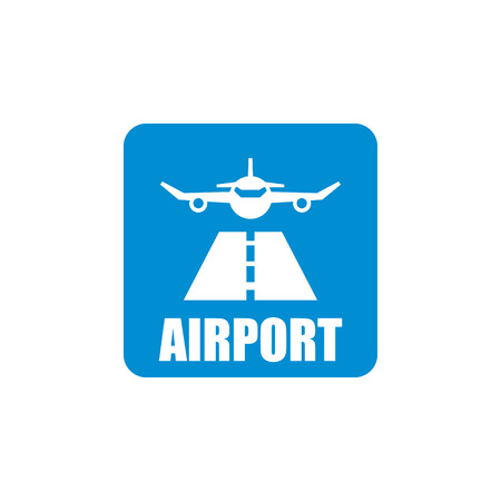 set going: Vector black airport icon set. Airport Icon Object, Airport Icon Picture, Airport Icon Image - stock vector Illustration
