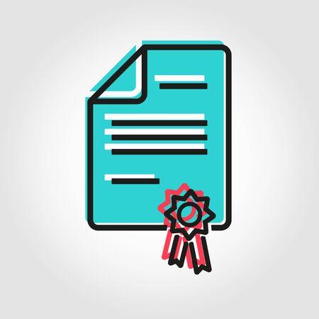 patent: Vector line patent icon. Patent Icon Object, Patent Icon Picture, Patent Icon Image - stock vector