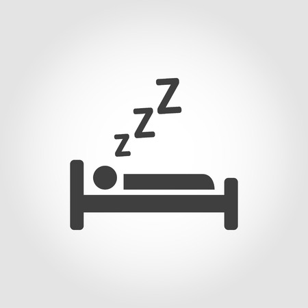 Vector black sleeping icon. Sleeping Icon Object, Sleeping Icon Picture, Sleeping Icon Image - stock vector
