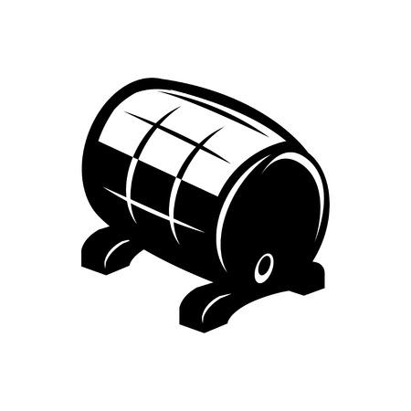 barrell: Vector black barrel icon on white background. Barrel sign.