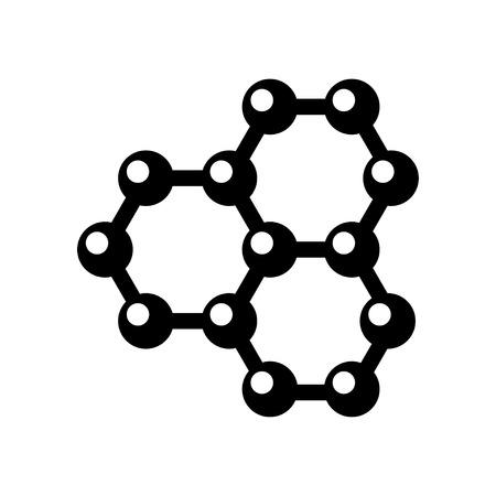 graphene: Vector graphene structure icon on white background