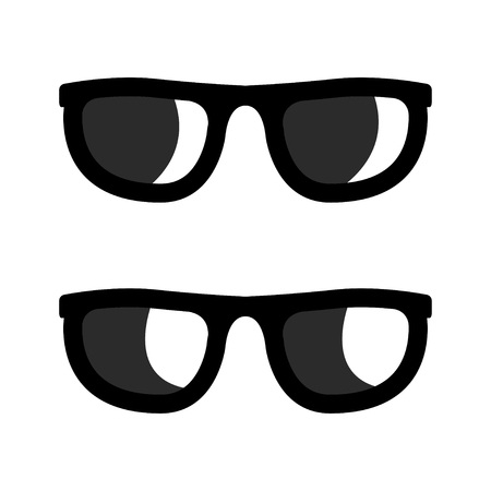 whote: Vector black sunglasses icons set on whote background. Aviator sunglasses sign. Glasses Icon