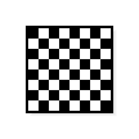 checkerboard backdrop: Vector Chess board icon. Black and White Squares Illustration