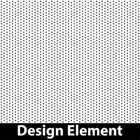 Vector halftone dots. Black dots on white background. Illustration
