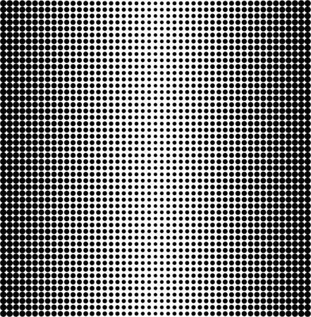 halftone dots: Vector halftone dots. Black dots on white background. Illustration