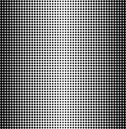 halftone pattern: Vector halftone dots. Black dots on white background. Illustration