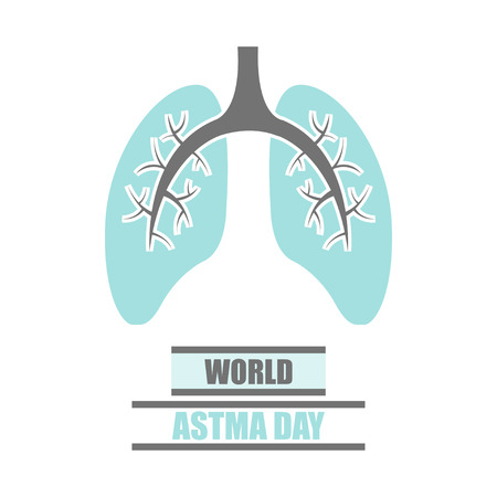symbol icon: Vector World Asthma Day Poster on white background