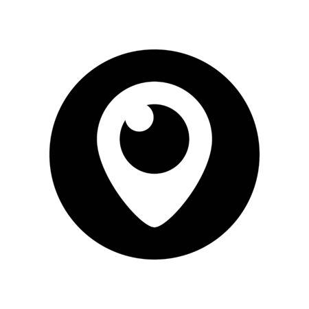 solated: Vector periscope icon. Periscope app