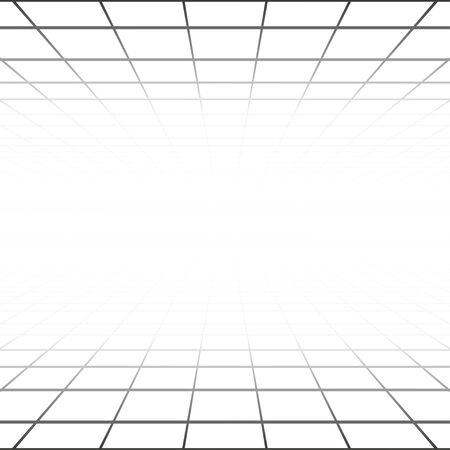 perspective grid: Vector abstract background with a perspective grid