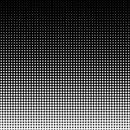 los puntos de semitono del vector. Los puntos negros sobre fondo blanco.