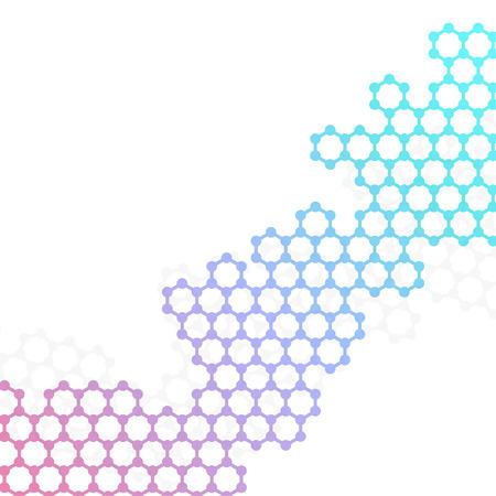Struktura cząsteczki DNA wektora i neurony na białym tle