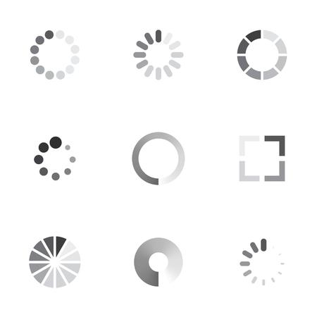 Vector loading icons set on whitge background Reklamní fotografie - 58602530