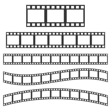 film frame: Vector black film frame. Film Strip sign Illustration