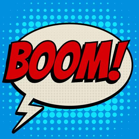 stranger: Boom comic book bubble text retro style Illustration