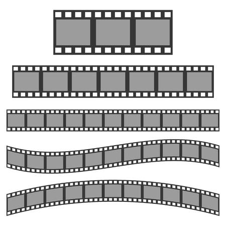 Vector black film frame. Film Strip sign  イラスト・ベクター素材