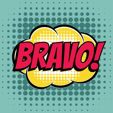 bravo: Bravo comic book bubble text retro style Illustration