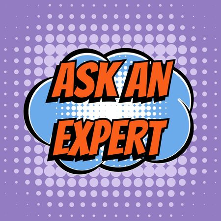 Ask an expert comic book bubble text retro style