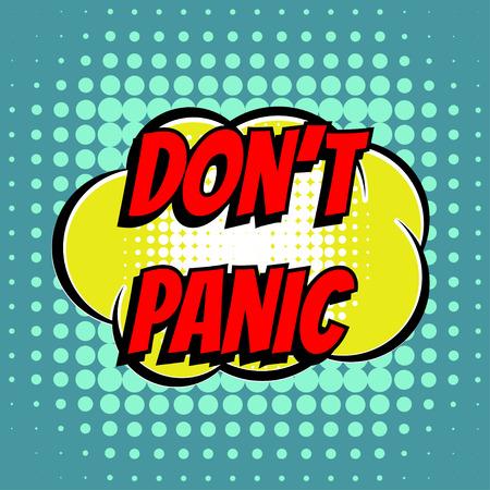 Dont Comic-Blase Text Retro-Stil Panik Vektorgrafik