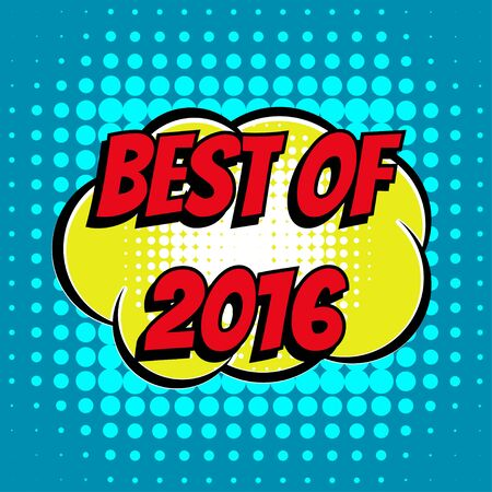 best book: Best of 2016 comic book bubble text retro style