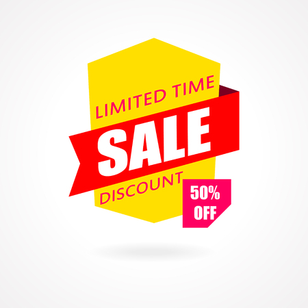 discount banner: Sale banner. Discount and special offer. 50 percentoff. Vector illustration Illustration