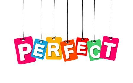 Vector kleurrijke hangende karton. Tags - perfect op een witte achtergrond Vector Illustratie