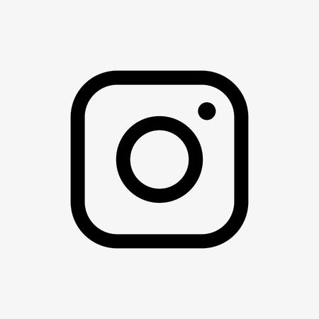 camera symbol: Vector black camera icon on grey background