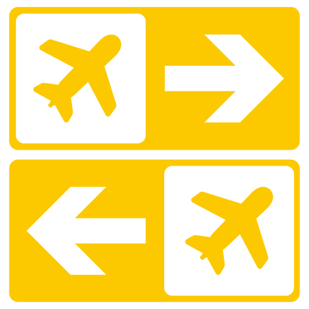 Vector Airport Signs on white background. Airport icon