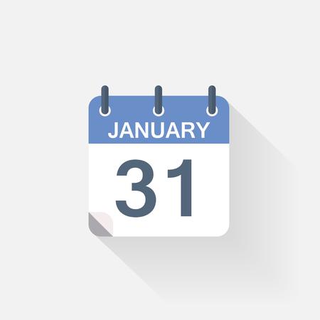 31: 31 january calendar icon on grey background