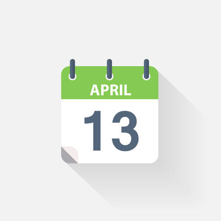 event calendar: 13 april calendar icon on grey background
