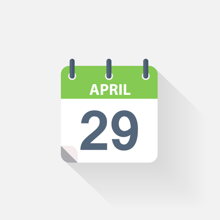 29: 29 april calendar icon on grey background