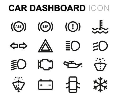 Auto Symbol Lizenzfreie Vektorgrafiken Kaufen: 123RF | {Armaturenbrett symbole 21}