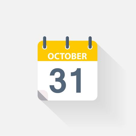 31: 31 october calendar icon on grey background