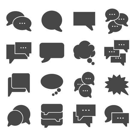 Speech bubble icons on white background. Vector illustration Illustration