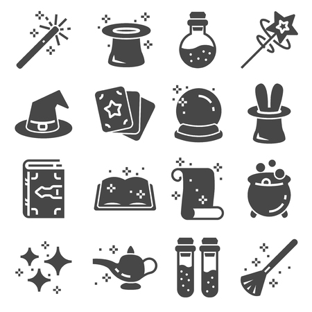 Simple Set of Magic Related Vector Icons for Your Design