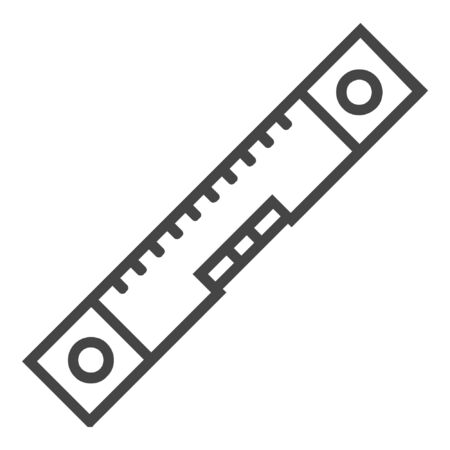 Carpentry level line icon on white background