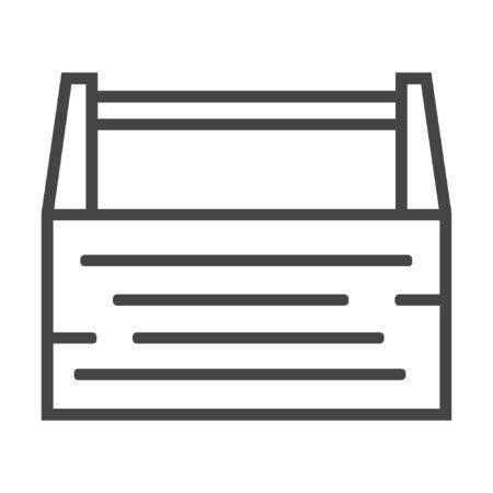 Carpentry box line icon on white background